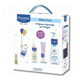 Mustela Promo Pack Gentle Cleansing Gel 500ml & Vitamin Barrier Cream 50ml & Baby Oil 110ml & Δώρο Νεσεσέρ