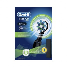 Oral-B Pro 750 3D CrossAction Black Edition + Δώρο Θήκη Ταξιδιού