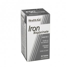 Health Aid Iron Bisglycinate Σίδηρος Δισγλυκινικός 90tabs
