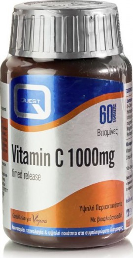 Quest Vitamin C 1000mg Time Release 60 ταμπλέτες