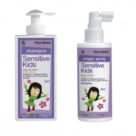 Frezyderm Gift Set Sensitive Kids Shampoo Girl 200ml & Sensitive Kids Magic Spray 150ml