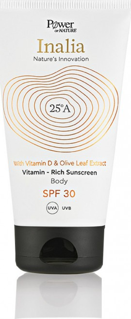 Power Health - Inalia with Vitamin D & Olive Leaf Extract Rich Body Sunscreen SPF30 150ml