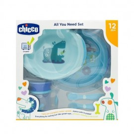 Chicco All You Need Set Σετ Φαγητού από 12 μηνών σε Μπλε Χρώμα 5τμχ