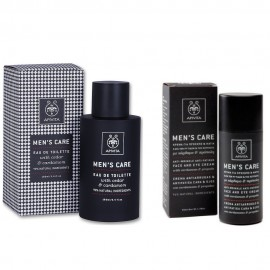 Apivita Gift Set Mens Care Eau De Toilette Cedar 100ml & Mens Care Κρέμα για Πρόσωπο & Μάτια 50ml