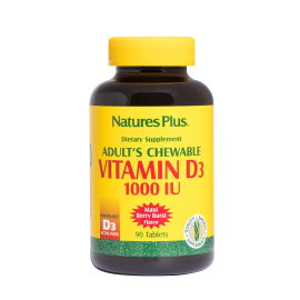 Natures Plus Adults Chewable Vitamin D3 1000 IU 90 ταμπλέτες
