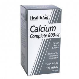 Health Aid Calcium Complete Ασβέστιο 800mg Δυνατά Οστά Και Δόντια 120tabs