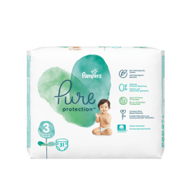 Pampers Pure Protection No.3 (6-10kg) Πάνες 31 τεμάχια